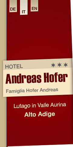 Hotel Andreas Hofer a Lutago in Valle Aurina - Alto Adige